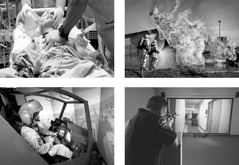 Use of Force Simulator, Fire fighting simulator, and flight simulator