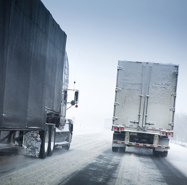 Adverse weather conditions on freeway